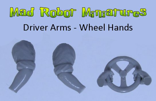 Driver Arms - Wheel Hands