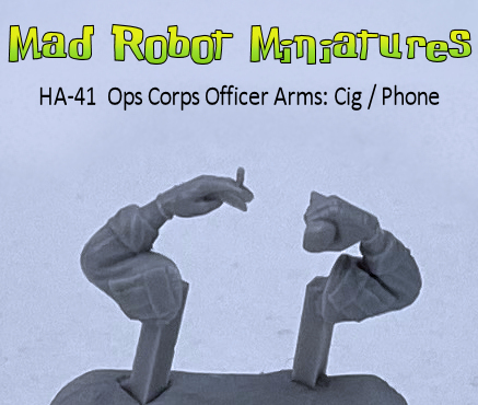 Ops Corps Officer Arms : Cig / Phone