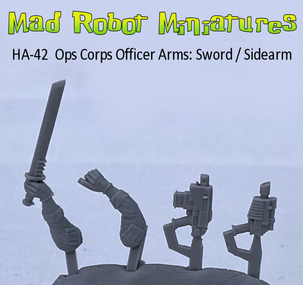 Ops Corps Officer Arms : Sword / Sidearm
