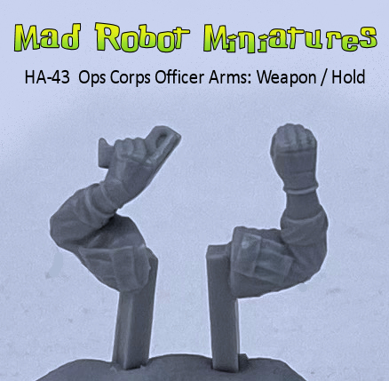 Ops Corps Officer Arms : Weapon / Hold Sign