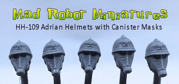 Adrian Helmets with Canister Masks