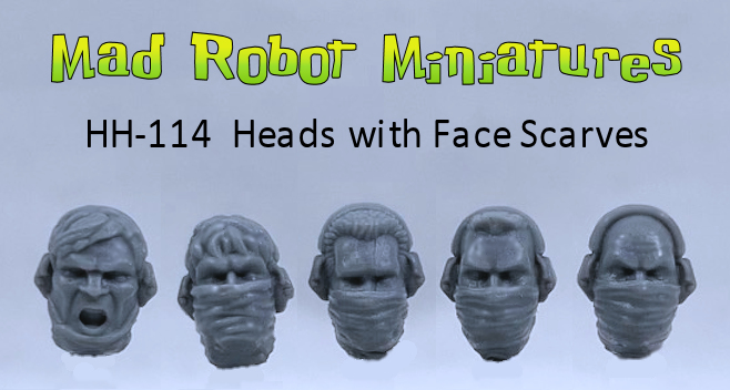 Heads with Face Scarves