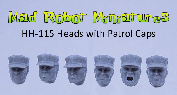Heads with Patrol Caps