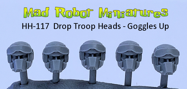 Drop Troop Heads - Goggles Up