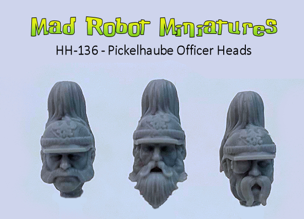 Pickelhaube Officer Heads