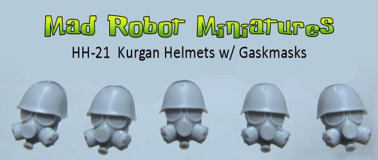 Kurgan Helmet Heads with Gasmasks