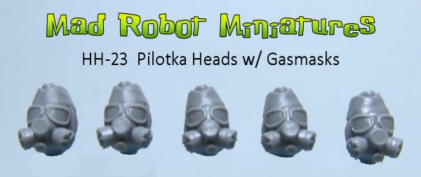Pilotka Heads with Gasmasks