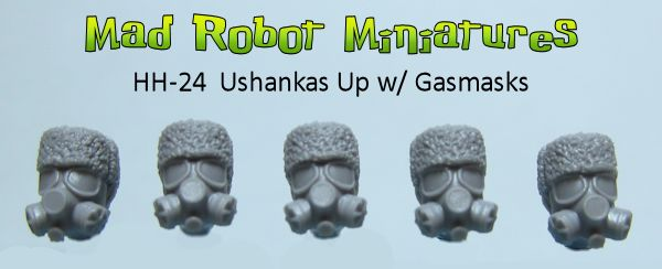 Ushanka Up Heads w/ Gasmasks
