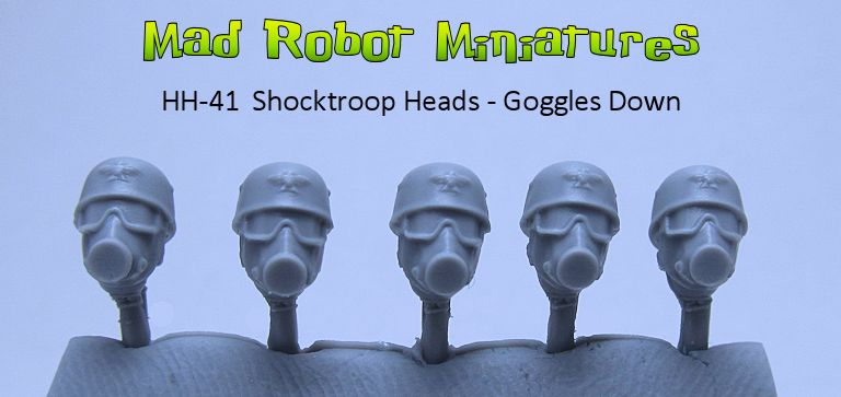 Shocktroop Heads - Goggles Down