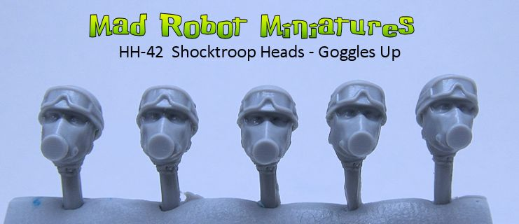 Shocktroop Heads - Goggles Up