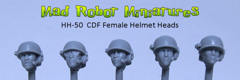 Female Heads with CDF Helmets