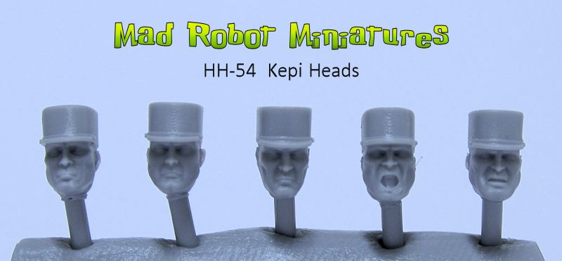 Heads with Kepis