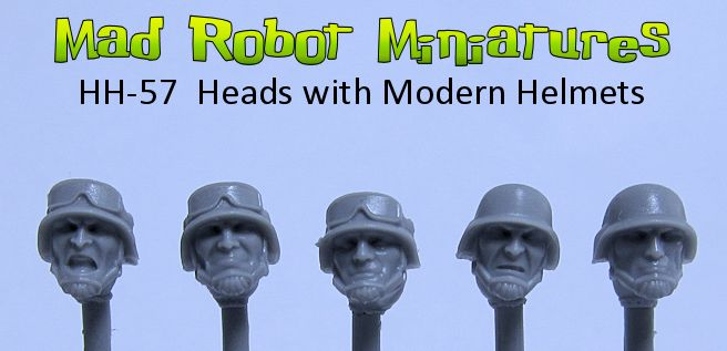 Heads with Modern Helmets