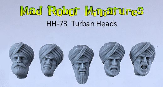 Turban Heads [HH-73] - $4 49 : Mad Robot : We Likey Minis!!