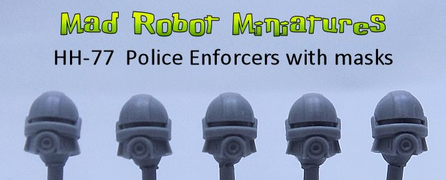 Space Police Enforcer Heads with masks