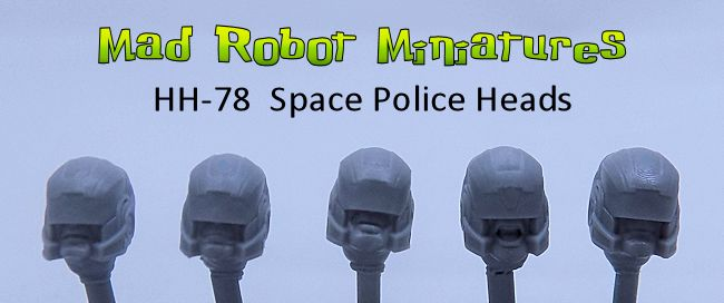 Space Police Heads (Dred Heads)