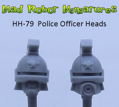 Space Police Officer Heads