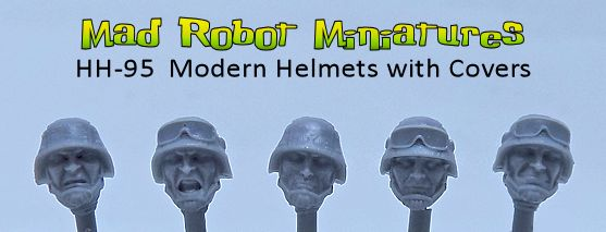 Modern Helmets with Covers