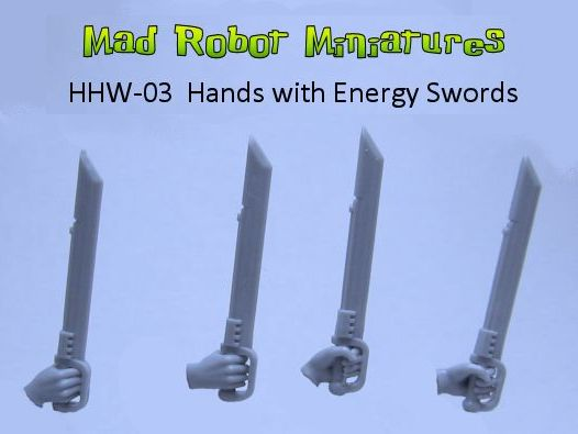 Hands with Energy Swords