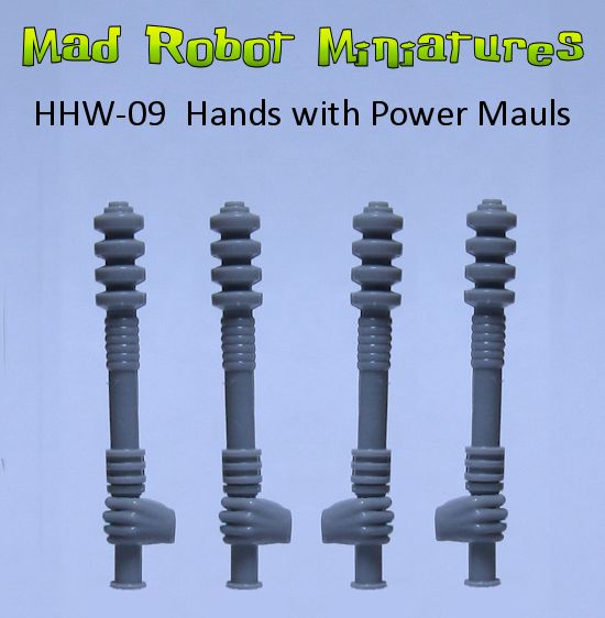 Hands with Power Mauls