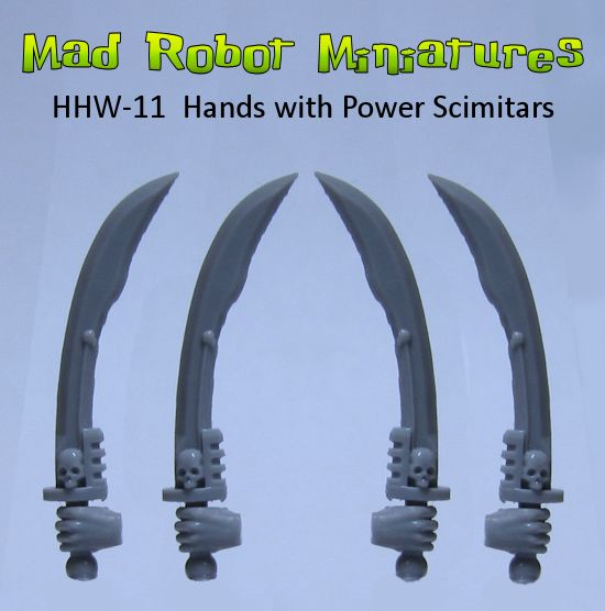 Hands with Power Scimitars