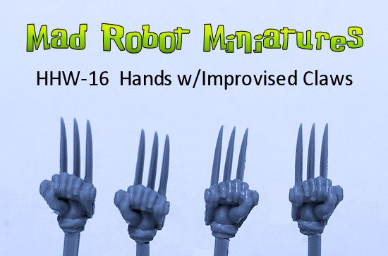 Hands with Improvised Claws