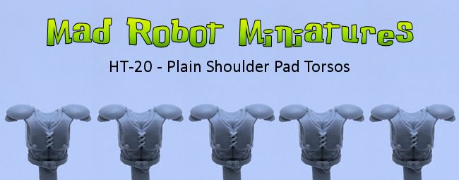 Plain Shoulder Pad Torsos